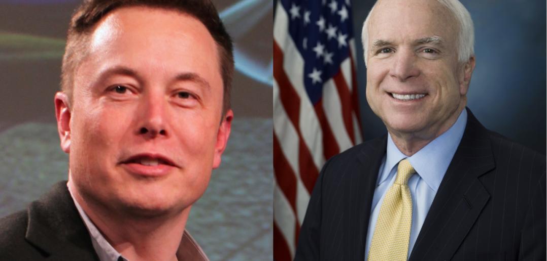 Elon Musk (po lewej) i senator John McCain (po prawej) / Credit: Steve Jurvetson, CC-BY 2.0, United States Congress (domena publiczna)