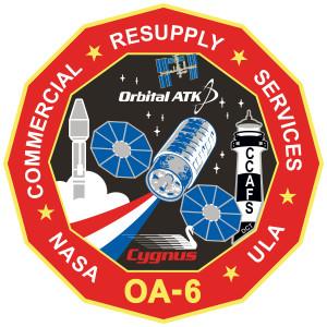 Logo misji Cygnus OA-6 / Credit: Orbital ATK