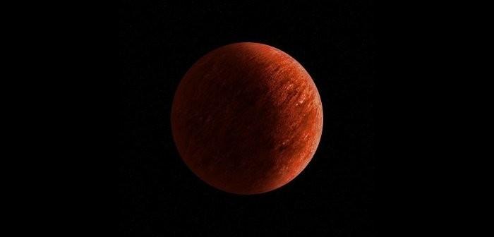 Możliwy wygląd Kepler-167d - jałowy skalisty glob, z rozgrzaną powierzchnią / Credits - K. Kanawka, kosmonauta.net