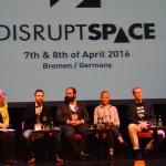 Panel dotyczący przedsiębiorczości na DIsrupt Space / Credits - Blue Dot Solutions