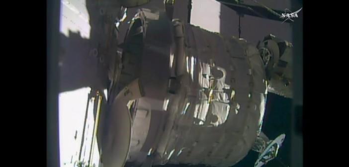 Moduł BEAM przyłączony do Node 3 / Credits - NASA TV