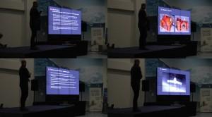 Adam Piech prezentuje osiągnięcia misji Hevelius / Credits - Near Space Conference