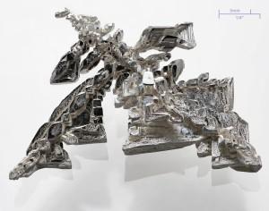 Sztucznie otrzymany kryształ srebra - jedna ze spodziewanych form pracy lasera Cu-SAT-PL / Credits - wikipedia commons