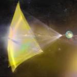 Artystyczna wizja nano-pojazdu zmierzającego do Alfa Centauri / Credits - Breakthrough Initiatives