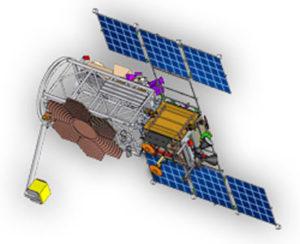 Wizualizacja satelity Michajło Łomonosow / Credits: Uniwersytet Michaiła Łomonosowa