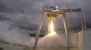 Test silnika Rutherford firmy Rocket Lab, kwiecień 2016 / Credit: Rocket Lab