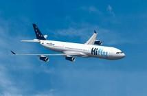 Grafika prezentująca Airbusa A340 / Credits - Hi Fly