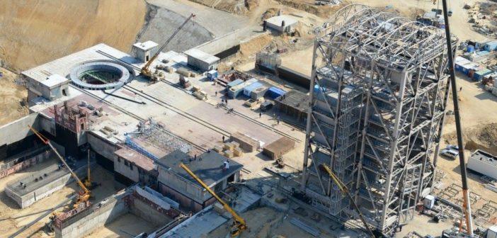 Kosmodrom Wostoczny w trakcie budowy / Credits: Roskosmos