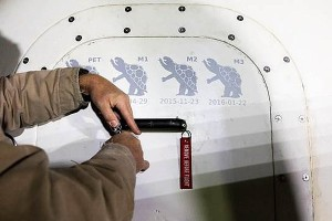 Ilustracje na włazie kapsuły New Shepard ilustrujące kolejne loty demonstracyjne / Źródło: Blue Origin, Twitter