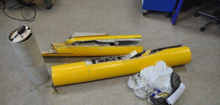 Odzyskane elementy rakiety BIGOS-2 / Credits - SpaceForest