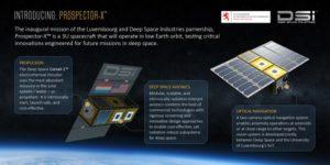 Deep Space Industries zamierza testować pierwsze rozwiązania na pokładzie satelity Prospector-X / Credits: DSI