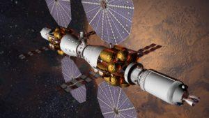 MBC - Koncepcja stacji kosmicznej krążącej wokół Marsa opracowana przez Lockheed Martin / Credits: Lockheed Martin