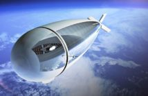 Jedna z grafik ukazujących HAPS w trakcie lotu w stratosferze / Credits - Thales Alenia Space