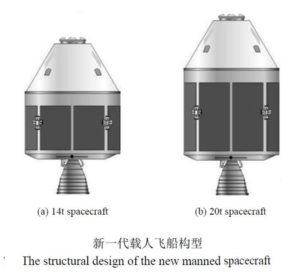 Grafika przedstawiająca nowi chiński statek załogowy / Credits: CNSA