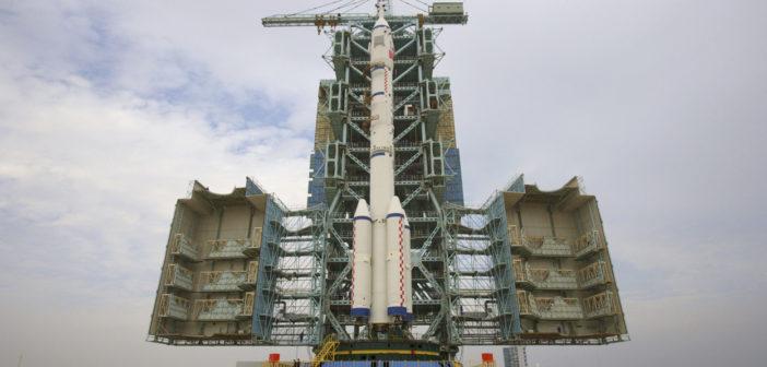 Rakieta Długi Mars 7 podczas testów / Credits: CNSA