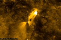 Merkury na tle Słońca, 9 maja 2016. Zdjęcie wykonane przez sondę SDO / Credit: NASA/SDO, HMI, AIA