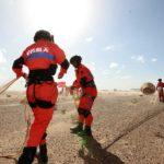 Przechwycenie prototypu chińskiej kapsuły załogowej, 26 czerwca 2016, pustynia Badain Jaran w Mongolii Wewnętrznej / Credit: Xinhua, New China