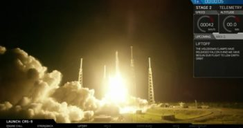 Start rakiety Falcon 9R w ramach misji CRS-9 / Credits: SpaceX