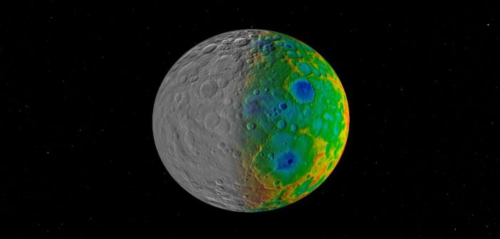 Dane wizualne i topograficzne Ceres z misji Dawn / Credits - NASA/JPL-Caltech/SwRI