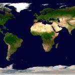Mapa Ziemi na podstawie danych satelitarnych (2011 rok) / Credits - NASA
