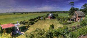 Teren obserwatorium w Niedźwiadach / Źródło: PPSAE
