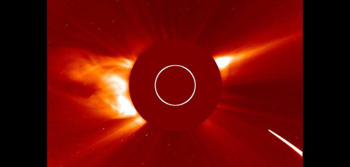 Zbliżająca się jasna kometa do Słońca - 4 sierpnia 2016 / Credits - NASA, ESA, SOHO