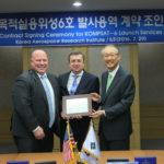 Uroczyste podpisanie umowy między ILS a KARI na wyniesienie KOMPSATa 6 rakietą Angara 1.2 / Credit: ILS