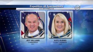 Astronauci  Jeff Williams i Kate Rubins / Credits - NASA