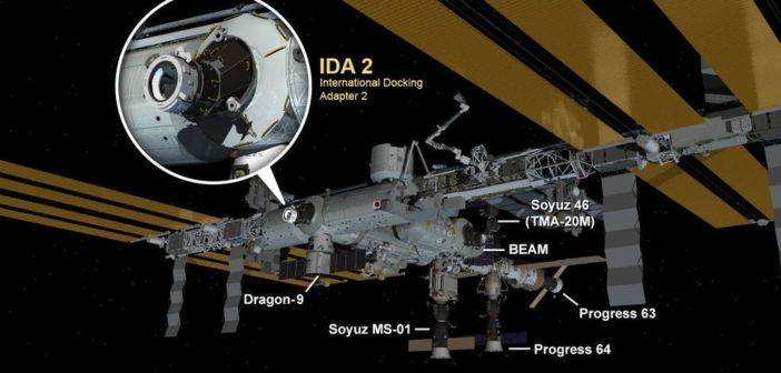 Widok ISS po udanej instalacji IDA-2 / Credits - NASA