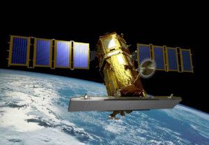 KOMPSAT-5 na orbicie - wizualizacja / Credit: KARI