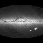 Mapa gęstości gwiazd skatalogowanych przez sondę Gaia / Credit: ESA/Gaia/DPAC