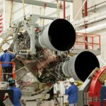 Dwa silniki RD-181 w rakiecie Antares 230 / Credits: NASA