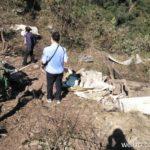 Kadr z miejsca upadku fragmentów rakiety CZ-4C / Credits: Weibo/Shaanxizhian