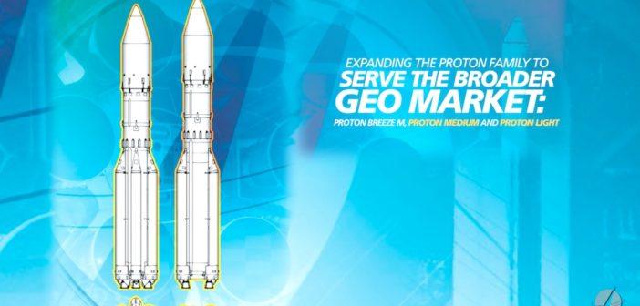 Grafika prezentująca nowe proponowane wersje rakiet Proton (grafika z 2016 roku) / Credits - ILS