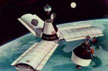 Wizja artystyczna stacji kosmicznej Olimp (NASA)