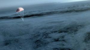 Opadanie kapsuły powrotnej OSIRIS-REx - wizualizacja / Credit: NASA