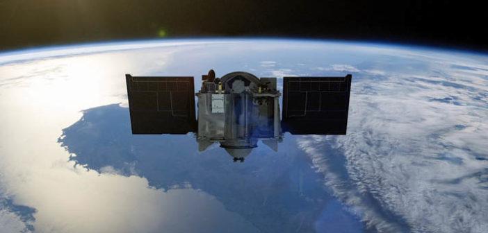 OSIRIS-REx w pobliżu Ziemi - wizualizacja / Credit: NASA