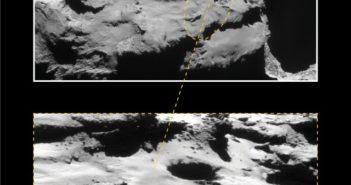 Planowany region lądowania sondy Rosetta / Credits - ESA/Rosetta/NavCam – CC BY-SA IGO 3.0