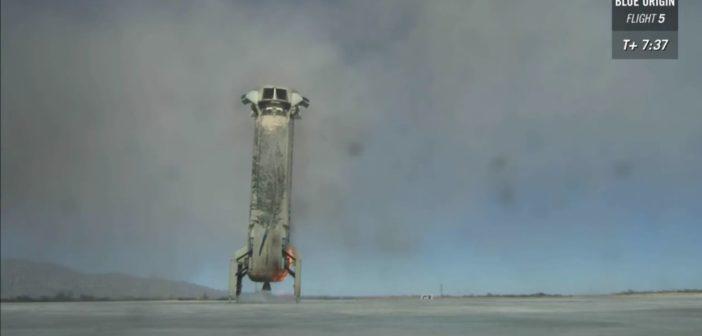Rakieta New Shepard po udanym lądowaniu 2016.10.05 / Credits: Blue Origin