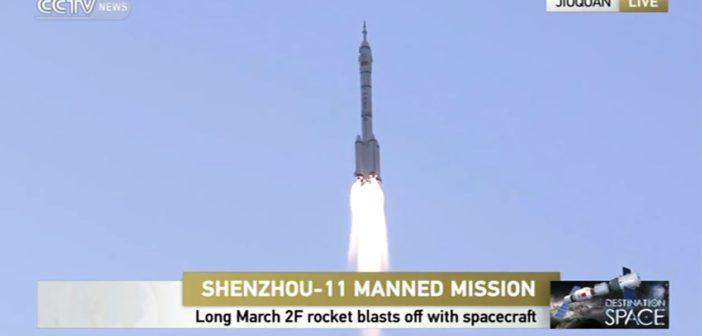 Start misji Shenzhou-11 / Credits - CCTV