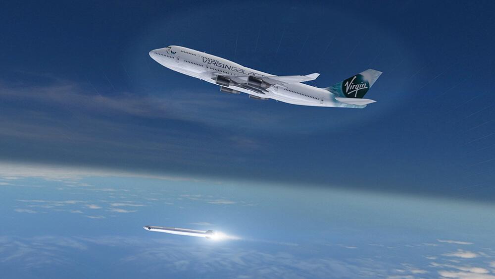 Boeing 747 uwalnia LauncherOne / Credits - Virgin Orbit