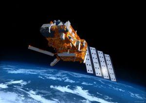 Satelita serii MetOp na orbicie - wizualizacja / Credit: Airbus D&S, EUMETSAT