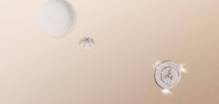 Grafika prezentująca lądowanie EDM Schiaparelli / Credits - ESA/ATG medialab