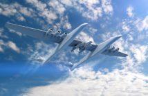 Rakiety Pegasus podczepione pod samolot Stratolaunch / Credits - Orbital ATK