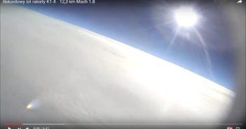 Kadr z lotu rakiety K-1X / Credits: PTR