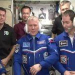 Załoga Ekspedycji 50 po otwarciu włazów z Sojuzem MS-03 / Credits - NASA TV