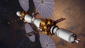 Koncepcja stacji okołoksiężycowej według koncepcji firmy Lockheed-Martin / Credits: Lockheed-Martin