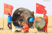 Kapsuła Shenzhou-11 po lądowaniu / Credits - news.cn