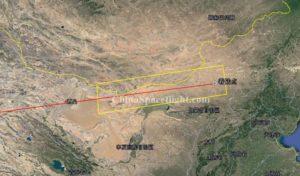 Miejsce lądowania Shenzhou-11 względem wyznaczonej (zamkniętej) strefy lądowania / Credits - China Spaceflight