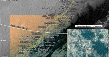 Trasa MSL do Sol 1555 (21.12.2016) / Credits - NASA/JPL-Caltech/Univ. of Arizona